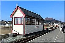 SH5738 : Porthmadog signal box by Richard Hoare