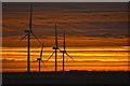 SS5641 : North Devon : Wind Turbines by Lewis Clarke