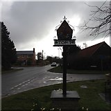 TL3656 : Toft village sign by Dave Thompson