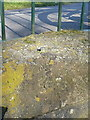 SP2481 : OS rivet - Meriden duckpond culvert by Richard Law