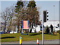 SD8010 : Oversized Deck Chair on Bury Traffic Island by David Dixon