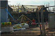 ST0107 : Cullompton : Swallow Way - Building Site by Lewis Clarke