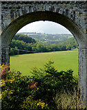SJ2837 : Valley and Viaduct near Chirk by Roger  Kidd