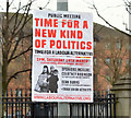 J3374 : Political poster, Belfast (March 2016) by Albert Bridge