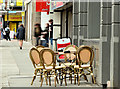 J3474 : Tables and chairs, High Street, Belfast (March 2016) by Albert Bridge