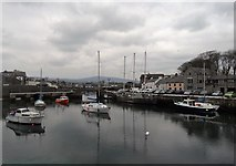 SC2667 : The inner harbour at Castletown by Neil Theasby