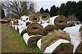 SE9412 : Rolls of Turf at Low Santon Farm by Ian S