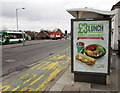 ST3090 : £3 Lunch advert on a Malpas Road bus shelter, Newport by Jaggery