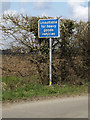 TM0783 : Roadsign on Stone Lane by Adrian Cable