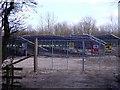 SK3717 : Entrance to Lount solar farm by Ian Calderwood