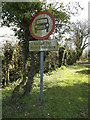 TM1658 : Roadsign on Pettaugh Lane Byway by Adrian Cable