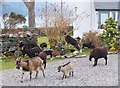 NG9319 : Goats in the garden, Kintail Lodge Hotel by Jim Barton