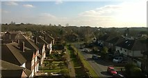 TQ1666 : Angel Road, Thames Ditton, from the railway by Christopher Hilton