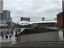 SP0786 : East front of New Street Station, mirror-clad by Robin Stott