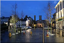 SC2667 : Revamped Castletown Square at night by Richard Hoare