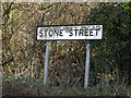 TM1455 : Stone Street sign by Geographer
