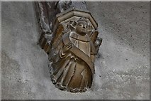 TG2834 : Trunch: St. Botolph's Church: Roof corbel 2 by Michael Garlick