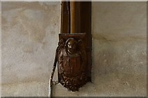 TG2834 : Trunch: St. Botolph's Church: Roof corbel 3 by Michael Garlick