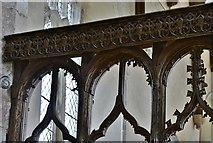 TG2834 : Trunch: St. Botolph's Church: Chancel screen detail by Michael Garlick