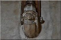 TG2834 : Trunch: St. Botolph's Church: Roof corbel 5 by Michael Garlick