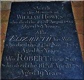 TG2834 : Trunch: St. Botolph's Church: The Howes memorial ledger slab by Michael Garlick