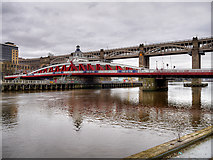 NZ2563 : River Tyne Swing Bridge, Newcastle by David Dixon