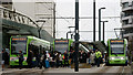 TQ3265 : Trams at East Croydon by Peter Trimming