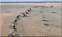 NU1835 : Unknown wreck, 600m ENE of Bamburgh Castle by Mick Garratt