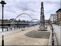 NZ2564 : Newcastle Quayside, The Blacksmith's Needle by David Dixon