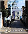 TQ2985 : Leverton Place leading to Leverton Street, Kentish Town by Julian Osley