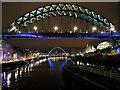 NZ2563 : River Tyne, Tyne Bridge and Gateshead Millennium Bridge by David Dixon