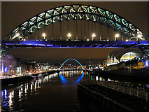 NZ2563 : River Tyne, Tyne Bridge and Gateshead Millennium Bridge by David Dixon