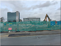 SP3378 : Friargate site viewed from Station Square, Coventry by Robin Stott