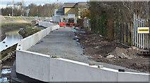 J3674 : Connswater path works, Belfast - March 2016(1) by Albert Bridge
