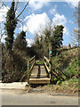 TM1354 : Footpath to The Hollows Coddenham Green by Adrian Cable
