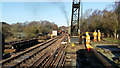 SY9583 : Engineering Work, Swanage Railway by Tim Marshall