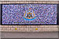 NZ2464 : Toon Army Mural, St James' Park by David Dixon