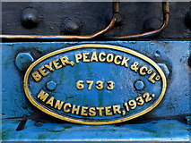 J4792 : Manufacturer's name plate on train by Kenneth  Allen