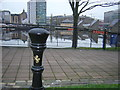 J3474 : Bollard by the Lagan, Belfast by Christopher Hilton