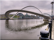 NZ2564 : Gateshead Millennium Bridge, Tilting by David Dixon