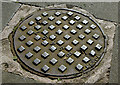 J3374 : Manhole cover, the Art College, Belfast (March 2016) by Albert Bridge