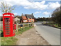 TM1554 : Main Road,Telephone Box & The Bridge Rectory Road Postbox by Adrian Cable