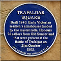 NZ4057 : Trafalgar Square Heritage Plaque by David Dixon