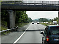 SK5995 : Wellingley Lane Bridge over the A1(M) near to Tickhill by David Dixon