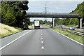 SK5995 : Northbound A1(M), Wellingley Lane Bridge by David Dixon