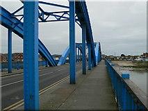SH9980 : Wales Coast Path on Foryd Bridge by Eirian Evans