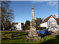 SO9946 : War Memorial, Fladbury, early March 2016 by Basher Eyre