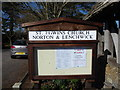 SP0447 : St Egwin, Norton and Lenchwick: notice board by Basher Eyre