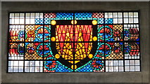 TQ0584 : Uxbridge tube station - stained glass window (2) by Mike Quinn