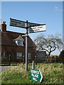 TM1554 : Roadsign on Stonewall Hill by Adrian Cable